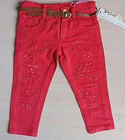 Детские цветные джинсы для девочек 1-4 года