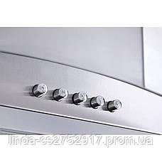 Кухонная вытяжка FERRARA 60 INOX (750) PB VentoLux, Т-образка кухонна вытяжка, фото 3