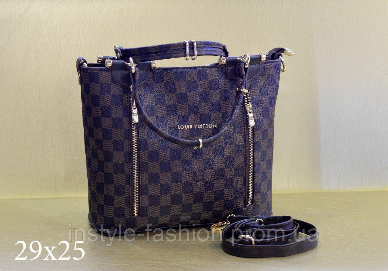 Модная сумка Louis Vuitton Louis Vuitton эко-кожа коричневая с замками
