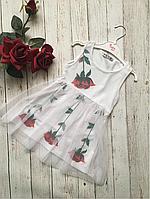 Сукня троянда