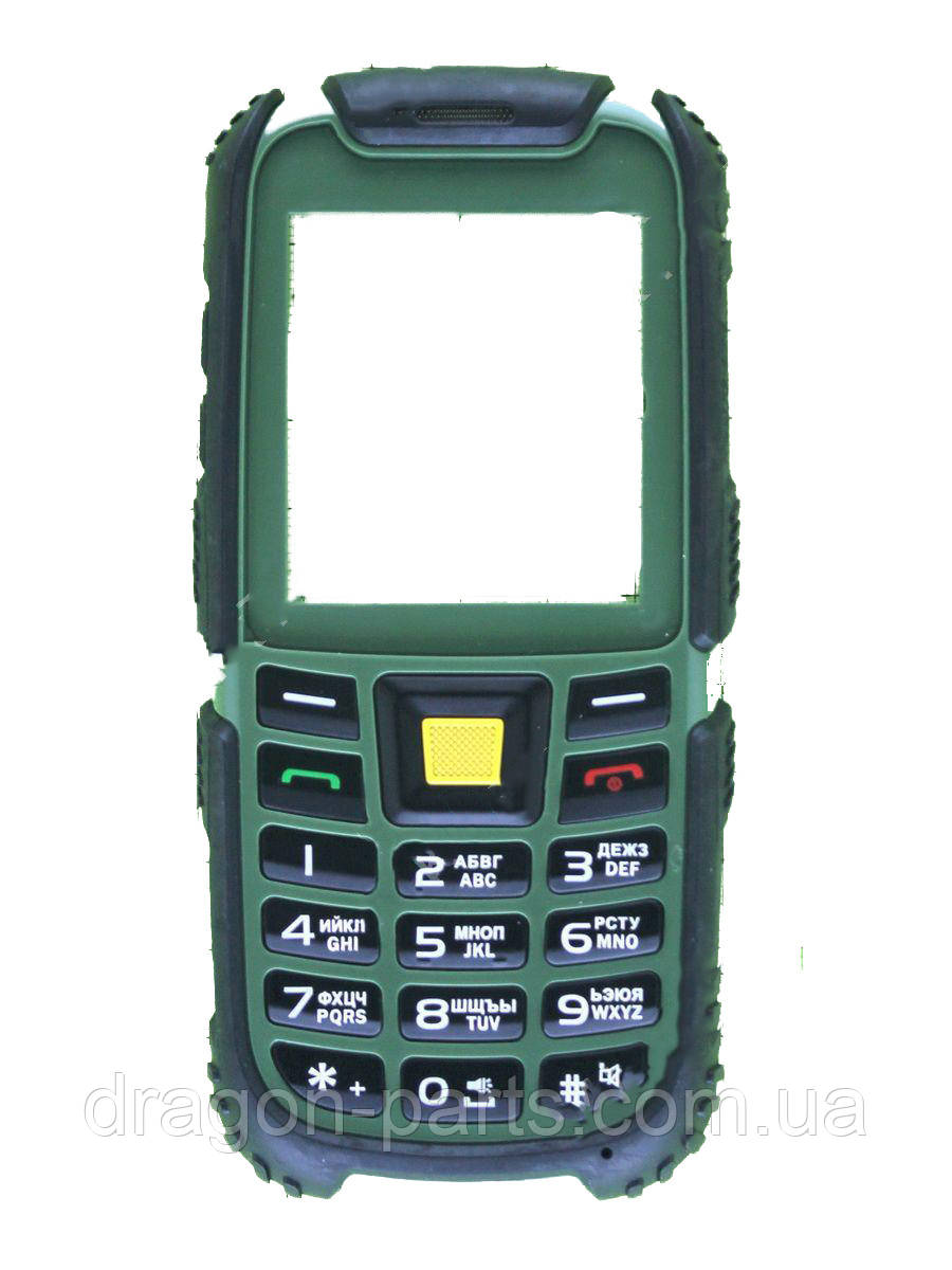 Передняя панель  Nomi i242 X-treme зеленая, оригинал