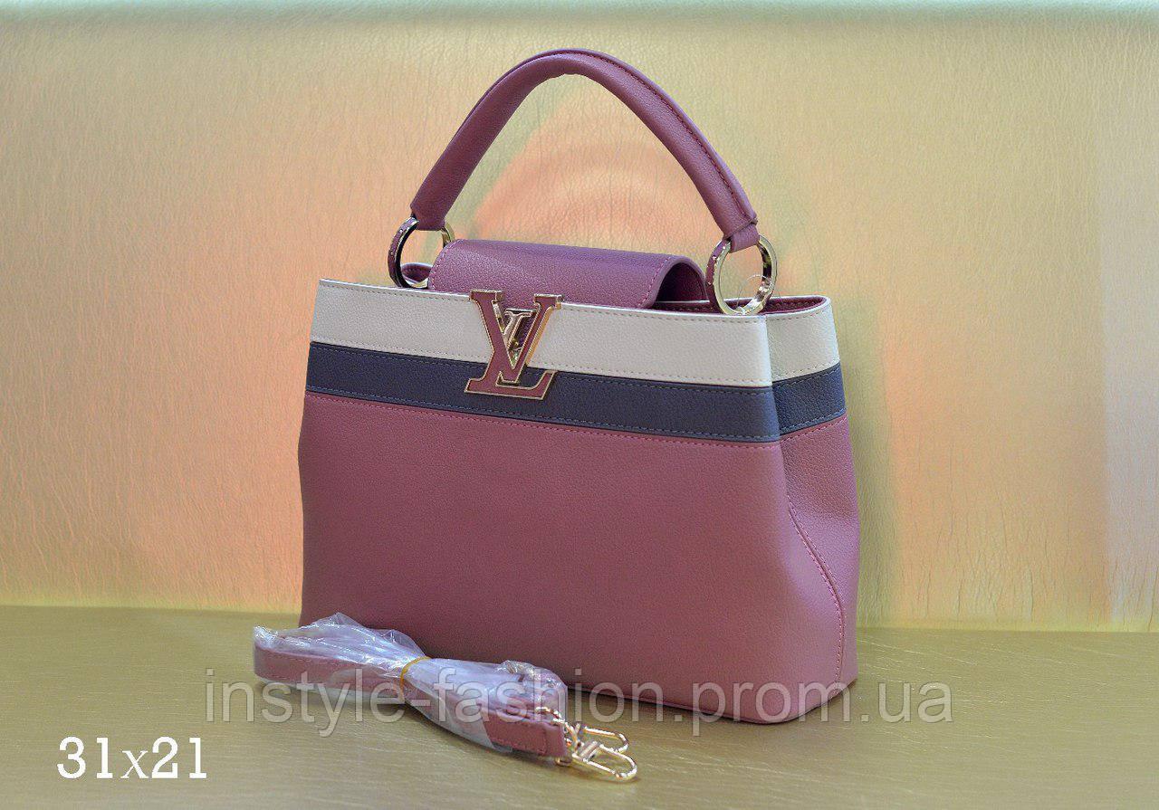 Модная сумка Louis Vuitton Louis Vuitton эко-кожа мини розовая
