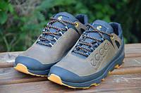 Кожаные мужские кроссовки Ecco Natural Motion, коричневые, фото 1