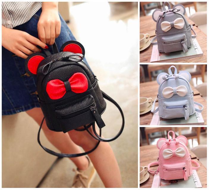 Рюкзак мини сумка Mikki женский кожзам с ушками цвета