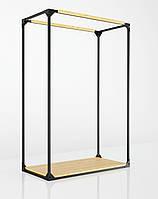 Вешалка стойка для одежды напольная с полкой , складная нагрузка 200 кг, фото 1