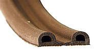Уплотнитель самоклеющийся резиновый коричневый Stomil P-тип 9*5.5 мм (бухта 100 м)