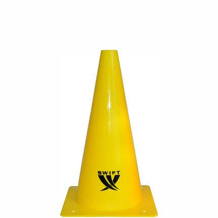 Конус тренировочный SWIFT Traing cone, 32 см (желтый), фото 2
