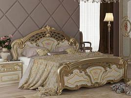 Ліжко з ДСП/МДФ в спальню Реджина Голд 1,6х2,0 з каркасом Миро-Марк