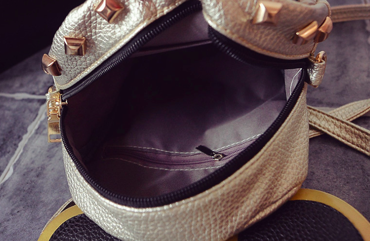 Рюкзак женский мини сумка Mickey Mouse кожзам с ушками