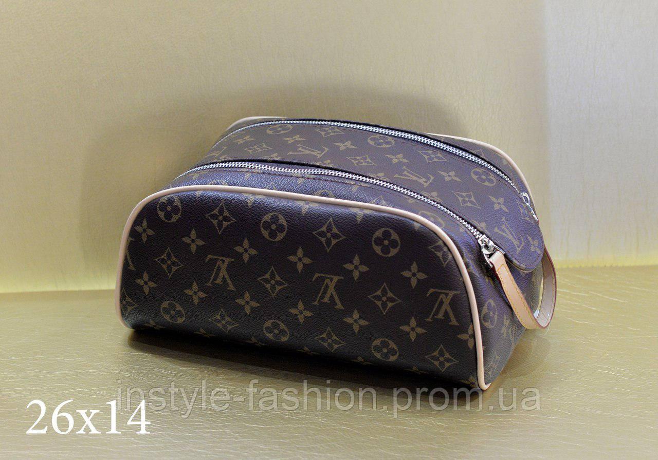 8ff4d85c98b5 Косметичка Louis Vuitton коричневая - Сумки брендовые, кошельки, очки,  женская одежда InStyle в