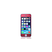 Защитное cтекло Remax для Apple iPhone 5/5S/5C Colorful Red, 0.2mm, 9H