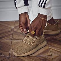 Низкие мужские кроссовки Adidas TUBULAR Shadow KNIT Cardboard бежевые, фото 3