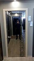 Двери с зеркалом.Стеклокаркасные двери.Двери Аксиома