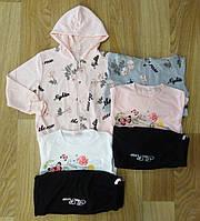 Трикотажный костюм 3 в 1 для девочек оптом, S&D, 134-164 см,  № CH-3882, фото 1