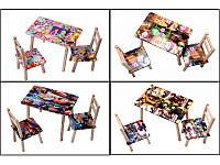 Стол + 2 стульчика мультяшный 600*460