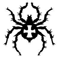 Виниловая наклейка на авто - паук 6