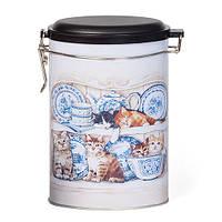 """Банка для хранения чая и кофе овальная """"Котята"""" 400 гр."""