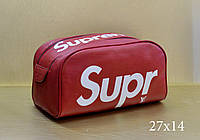 Косметичка Louis Vuitton Supreme красная