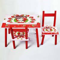 Стол + 2стула W02-881(H919) Клубнички