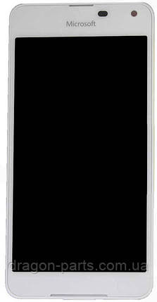 Дисплей Microsoft Lumia 650 Dual Sim с сенсором (модуль) белый оригинал , 00814H6, фото 2