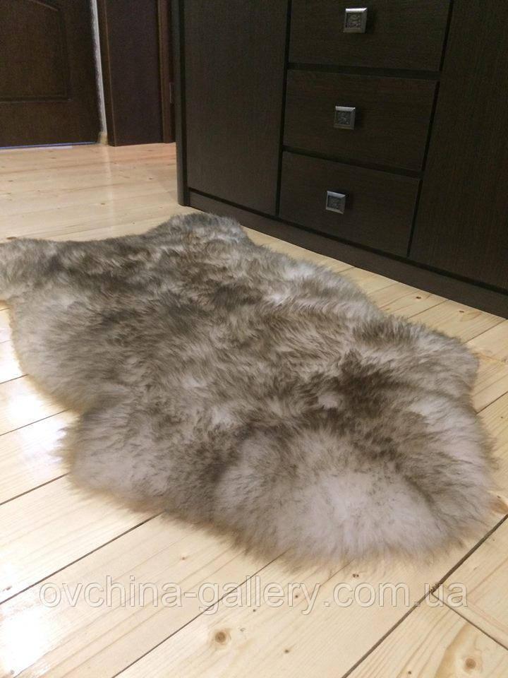 Шкура овеча натуральна попеляста, розмір 130х70