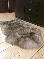 Шкура овечья натуральная пепельная, размер 130х70