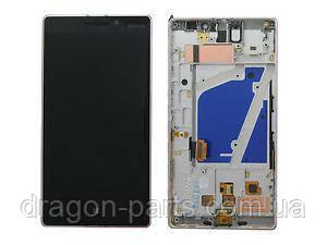 Дисплей Nokia Lumia 930 с сенсором (модуль) серый оригинал , 00812K8