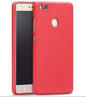 Матовый силиконовый чехол SMTT для Xiaomi Mi 4s красный