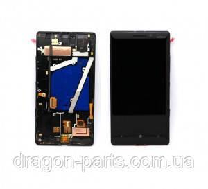 Дисплей Nokia Lumia 930 с сенсором (модуль) черный оригинал , 00812K9, фото 2