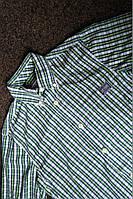 Мужская рубашка с коротким рукавом в клетку superdry р-р S Оригинал (сток, б/у) original