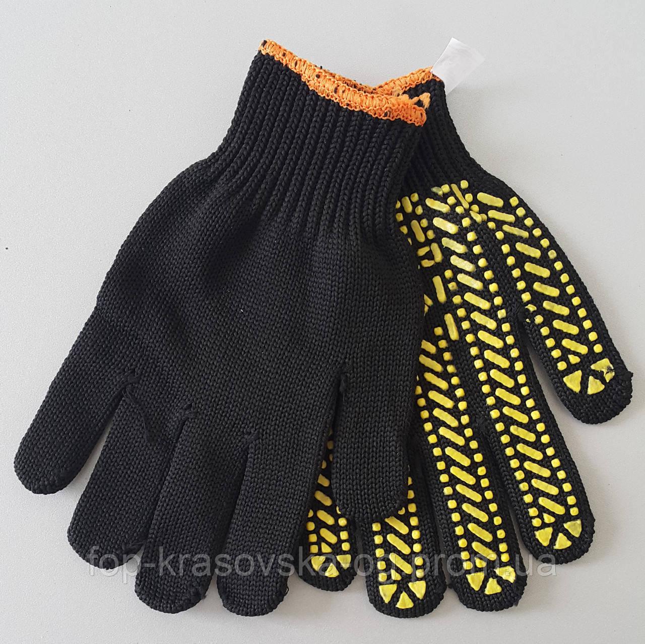 Перчатка трикотажная С1 (Желтый ПВХ)