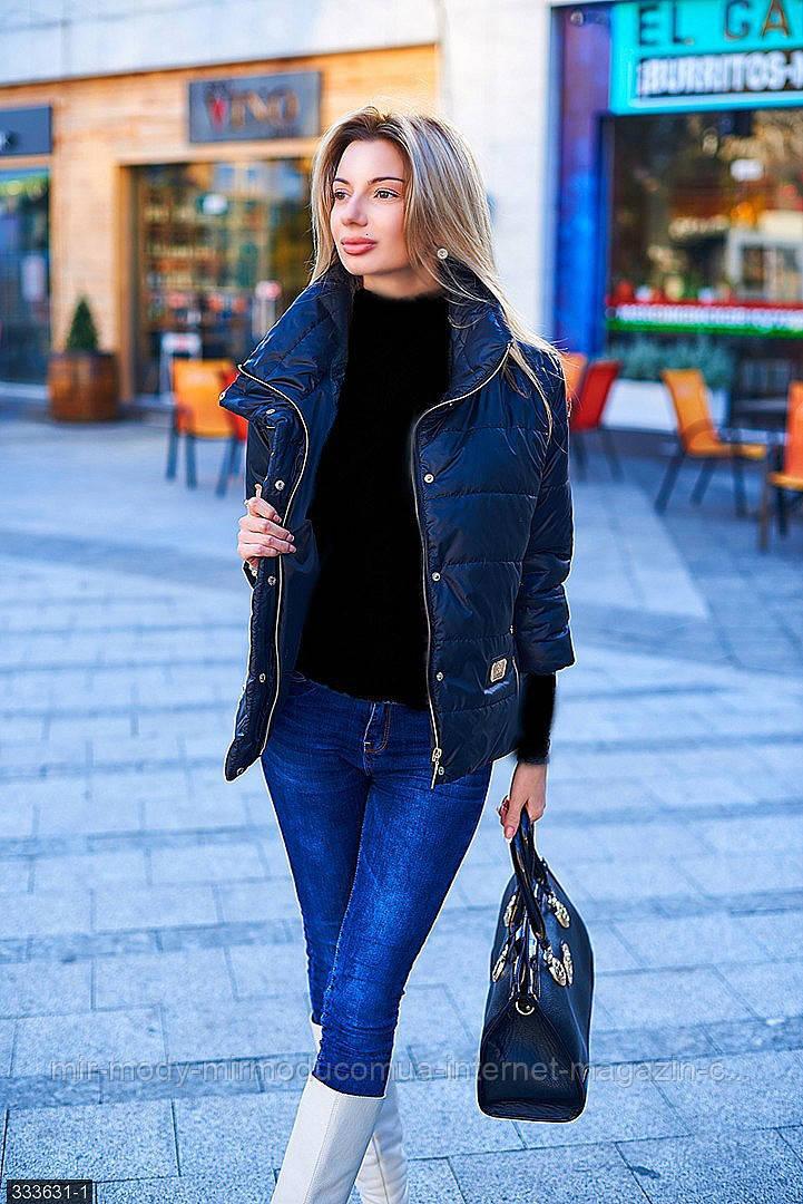 Куртка 333631-1 черный Весна 2018 Украина мш