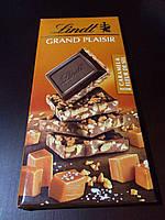 Швейцарский чёрный шоколад карамель и кристалы соли Lindt Grand Plaisir