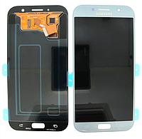 Дисплей Samsung A720 Galaxy A7 с сенсором Голубой Blue оригинал , GH97-19723C