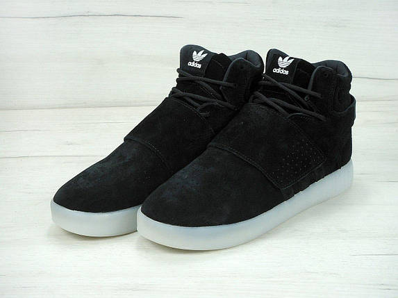 Мужские кроссовки Adidas TUBULAR invader strap черно/белые, фото 2