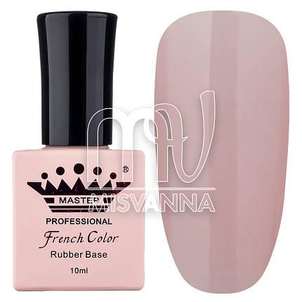 База (каучуковая) для гель-лака Master Professional French №4 (беж с розовым оттенком), 10 мл, фото 2