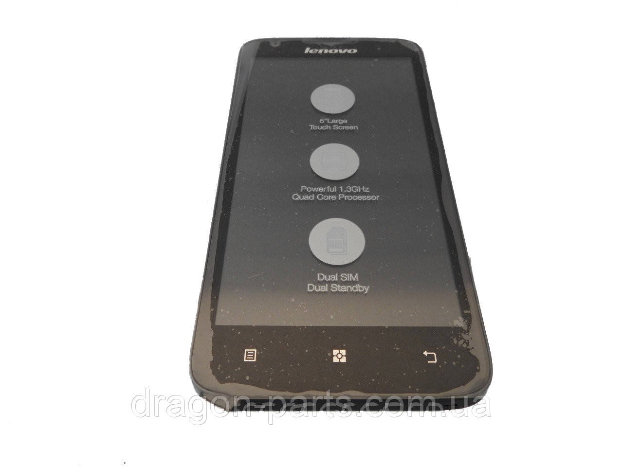 Дисплей Lenovo A680 с сенсором черный/black , оригинал 5D69A4671U