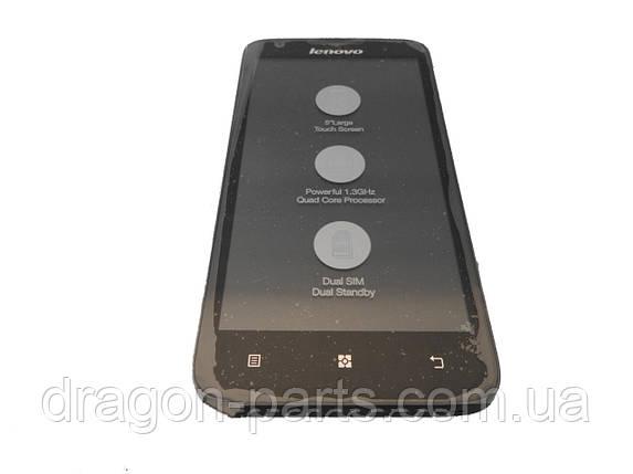 Дисплей Lenovo A680 с сенсором черный/black , оригинал 5D69A4671U, фото 2