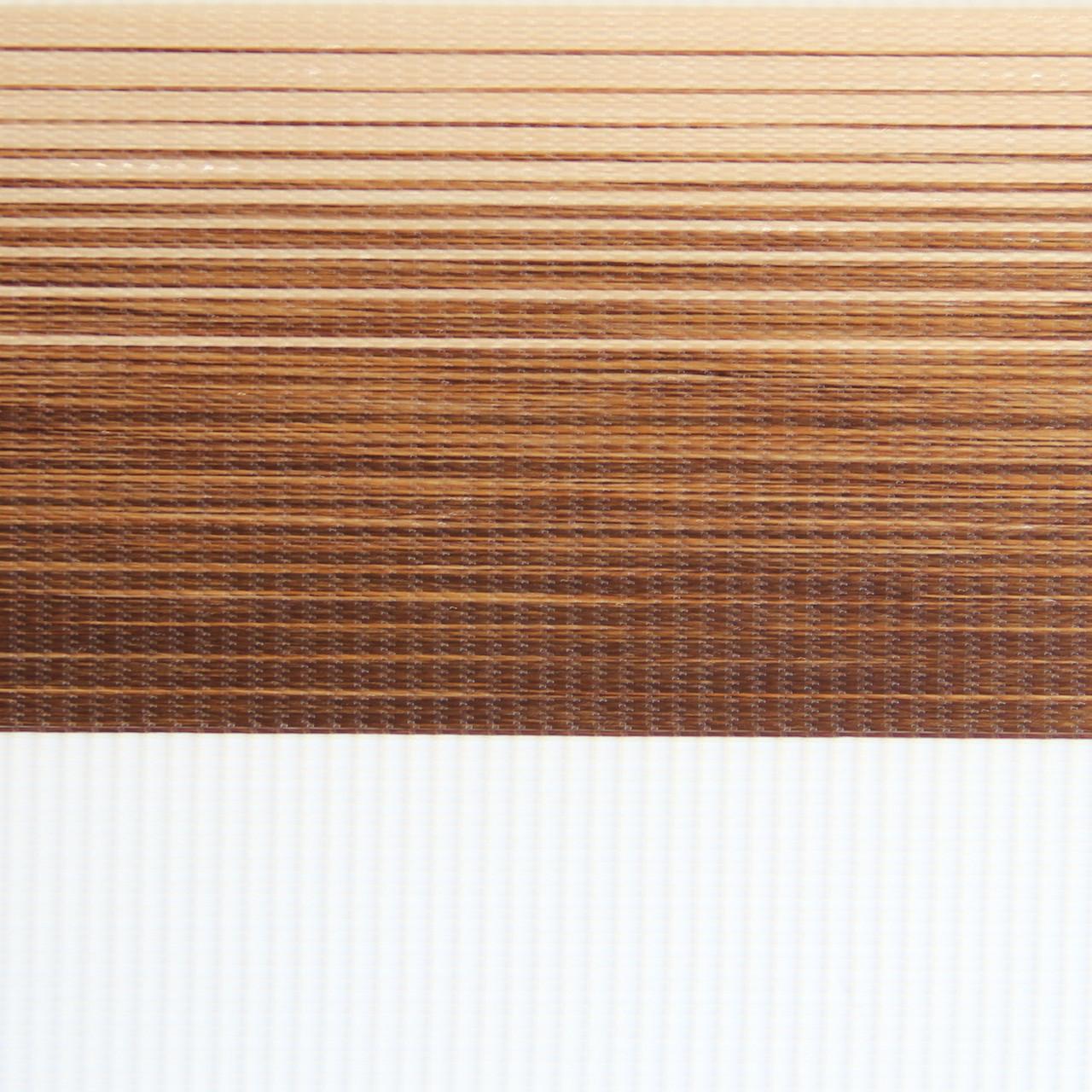 Рулонні штори День-Ніч Тканина Капрі Z-132 Коричневий