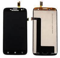 Дисплей Lenovo A859 с сенсором черный/black , оригинал 5D69A6MWTE, фото 2