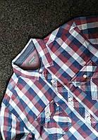 Мужская рубашка с длинным рукавом в клетку peacocks р-р L Оригинал (сток, б/у) original