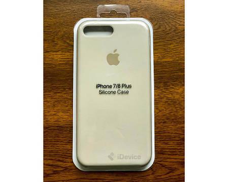 Силиконовый чехол для iPhone 7/8 Plus бежевый, фото 2