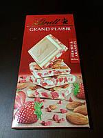 Швейцарский белый шоколад клубника и миндаль Lindt Grand Plaisir