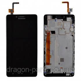 Дисплей Lenovo A6000 с сенсором черный/black , оригинал 5D68C00655, фото 2