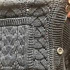 Турецкая вязанная жилетка батал, цвет джинс, фото 3