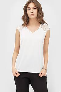 Женская белая блуза без рукавов (Remz crd)