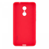 Матовый силиконовый чехол SMTT для Xiaomi Redmi Note 4X / Note 4 (Snapdragon) красный