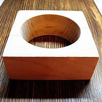 Браслет квадратный 8,5*8,5*3,5см Ольха, фото 1
