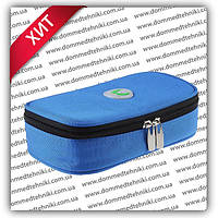 Чехол с термометром +4 до +24 °C для хранения инсулина (синий)
