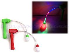 Вертушка светящ., шар с ручкой, без батареек, в пак. 16*16см (360 шт./4)